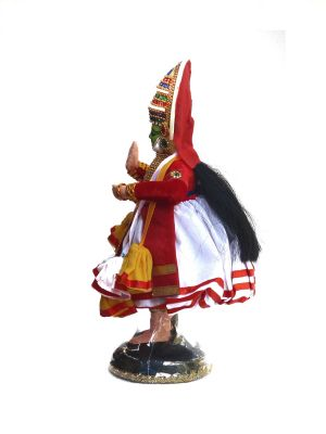 Kathakali Dancing Doll- side view