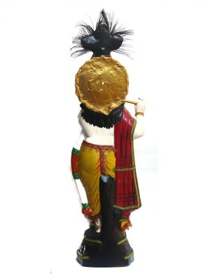 Lord Krishna Idol-back view
