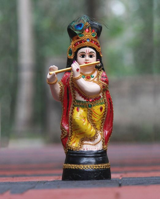 sreekrishna statue ivory color 1 foot height