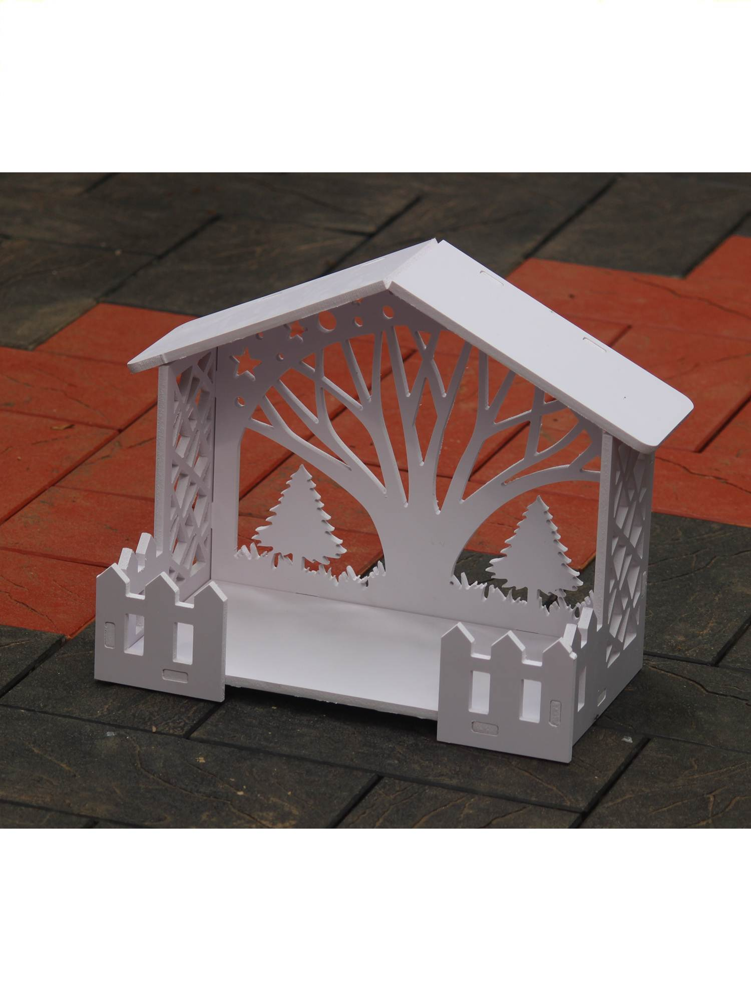 Wooden Christmas Crib Set Made In India 30 Cm Height Multiwood