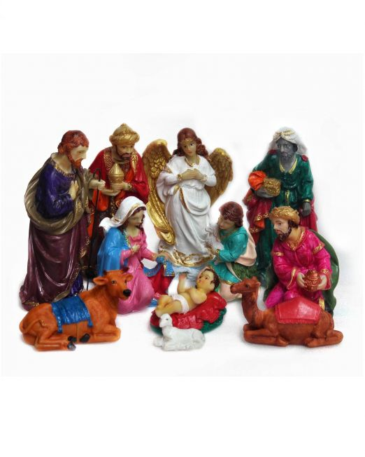 Real-life Christmas Nativity Crib set